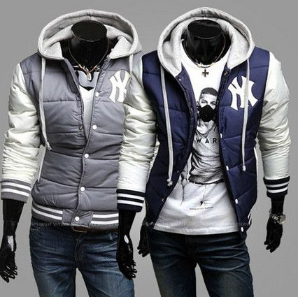 New York Yankees Baseball Hoodie Puffer Jacket | Sneak Outfitters ...