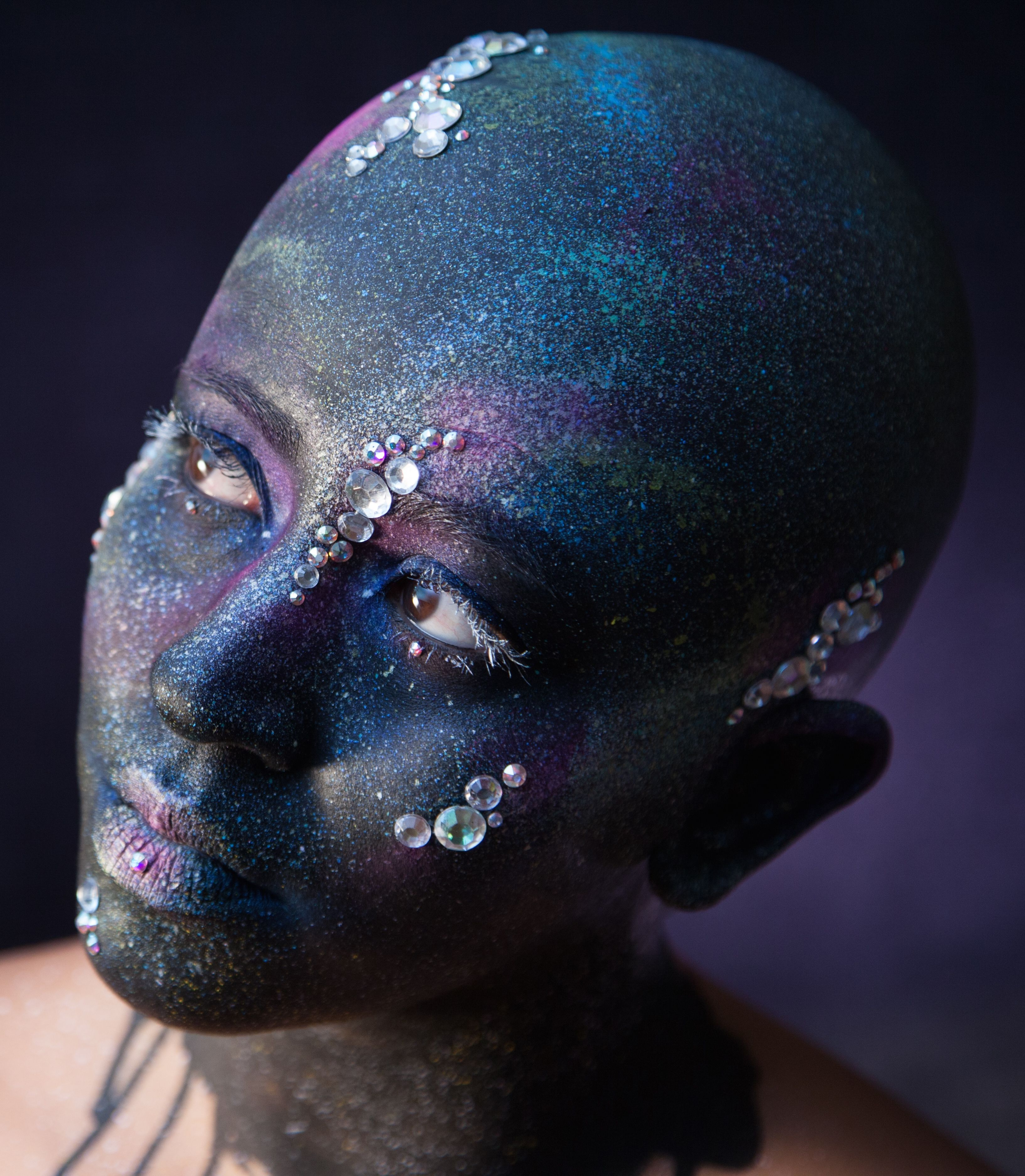 Space odyssey. Bald cap and makeup by me. Bald cap