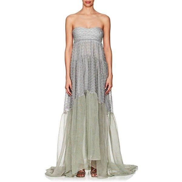 Missoni Women\'s Metallic Knit Strapless Gown (12,825 SAR) ❤ liked ...