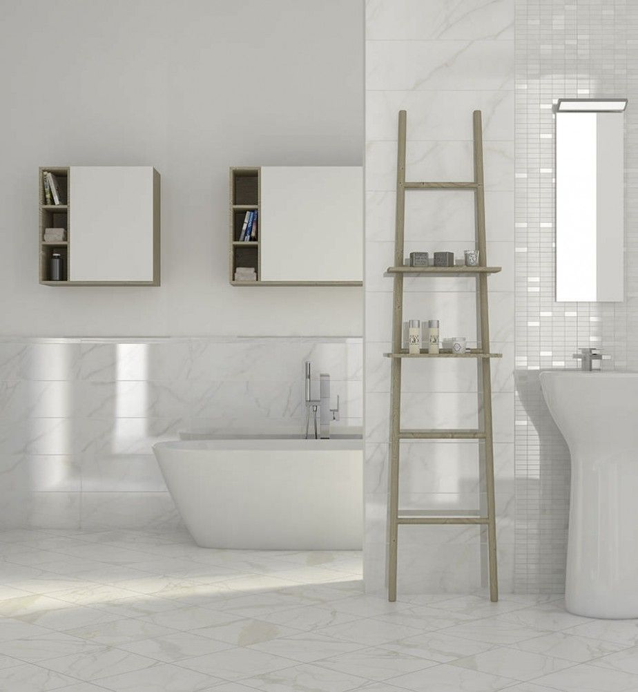 Cool 23 White Ceramic Bathroom Tile Ideas And Pictures