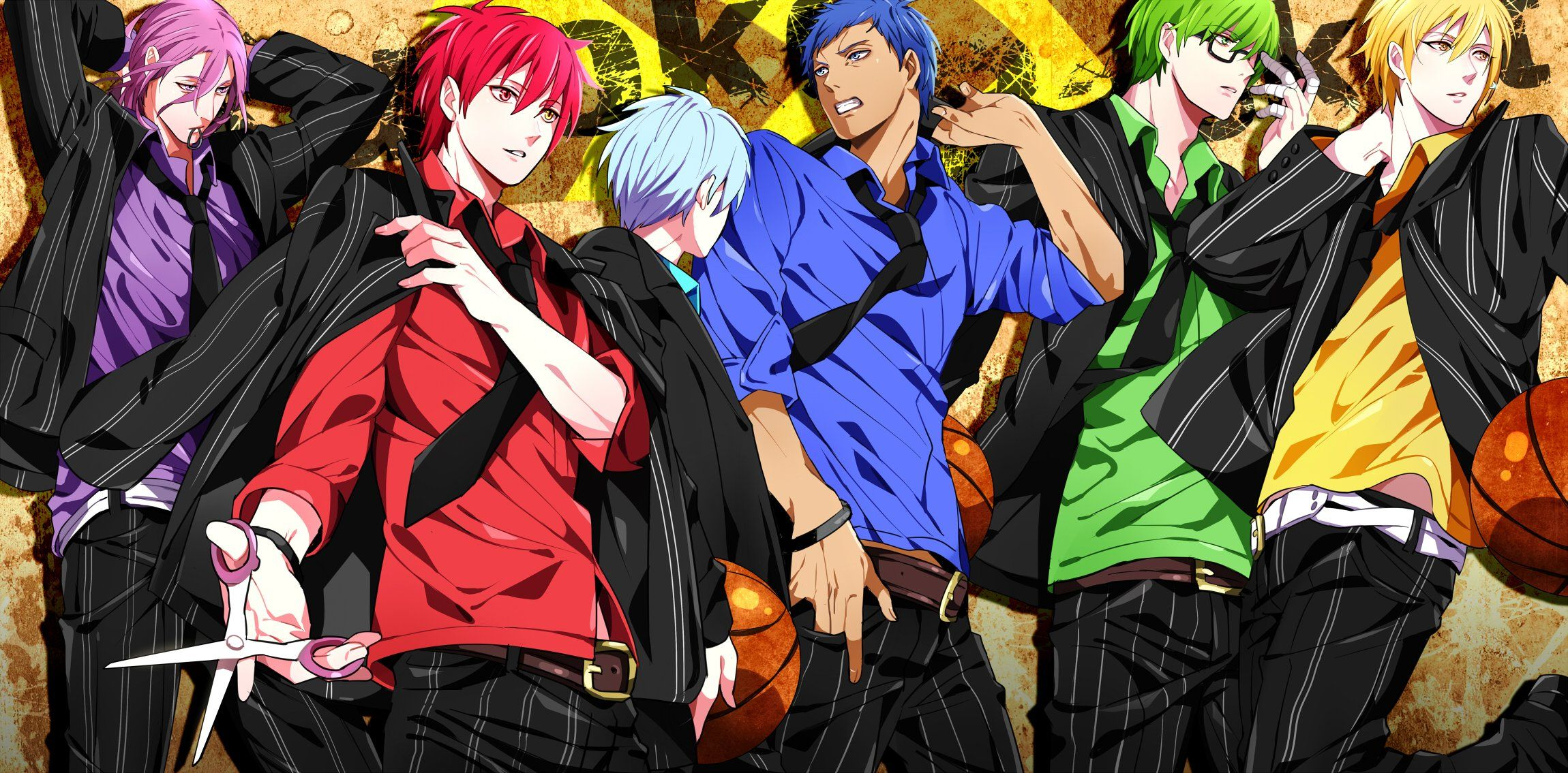 Anime Green Hair Glasses Blue Hair Zone Blue Eyes Violet Eyes Blonde Hair Purple Hair Boys Red Eyes Red Hair Basket In 2020 Kuroko S Basketball Kuroko Kuroko No Basket