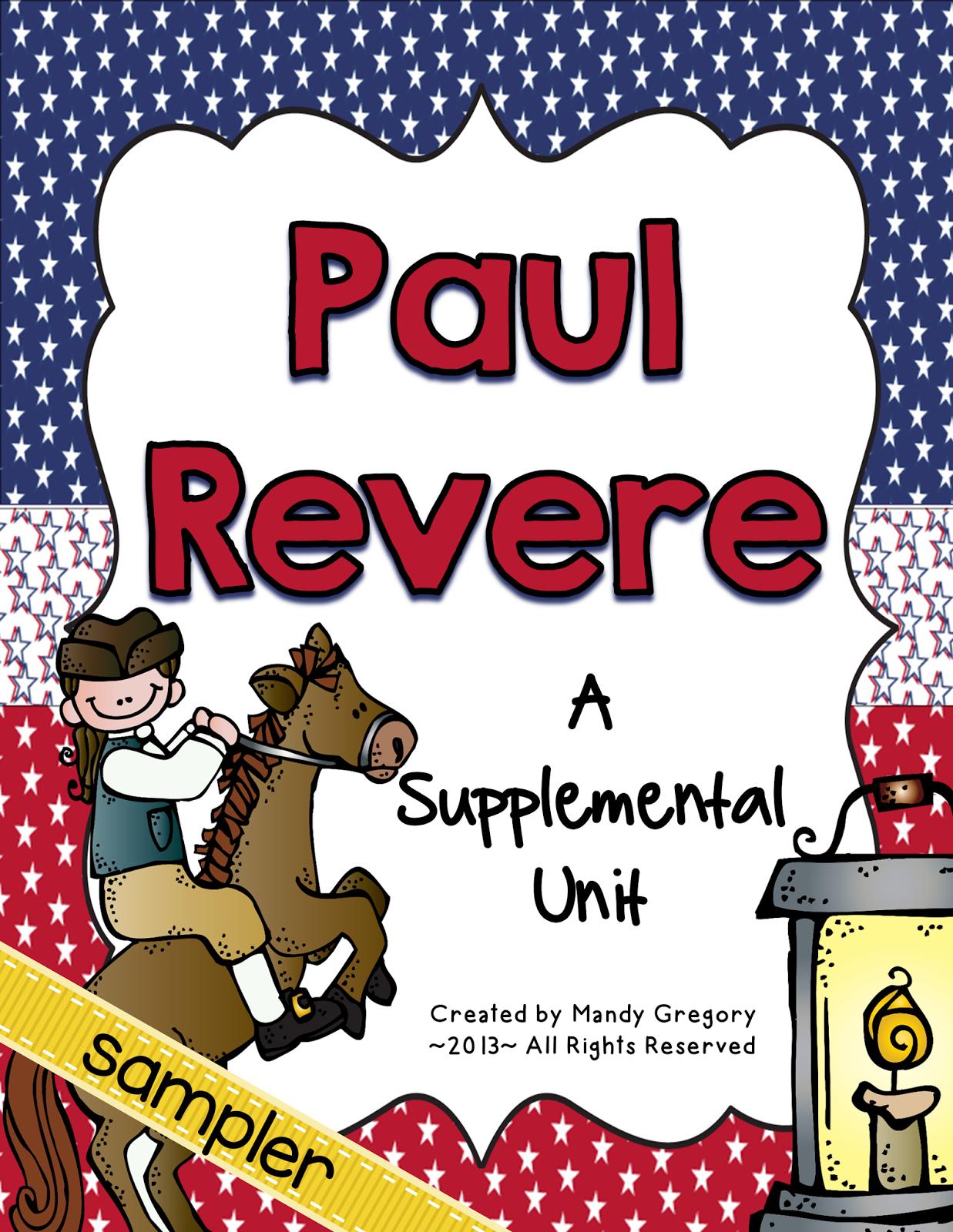 Paul Revere Third Grade Ga Heroes Resources Freebie