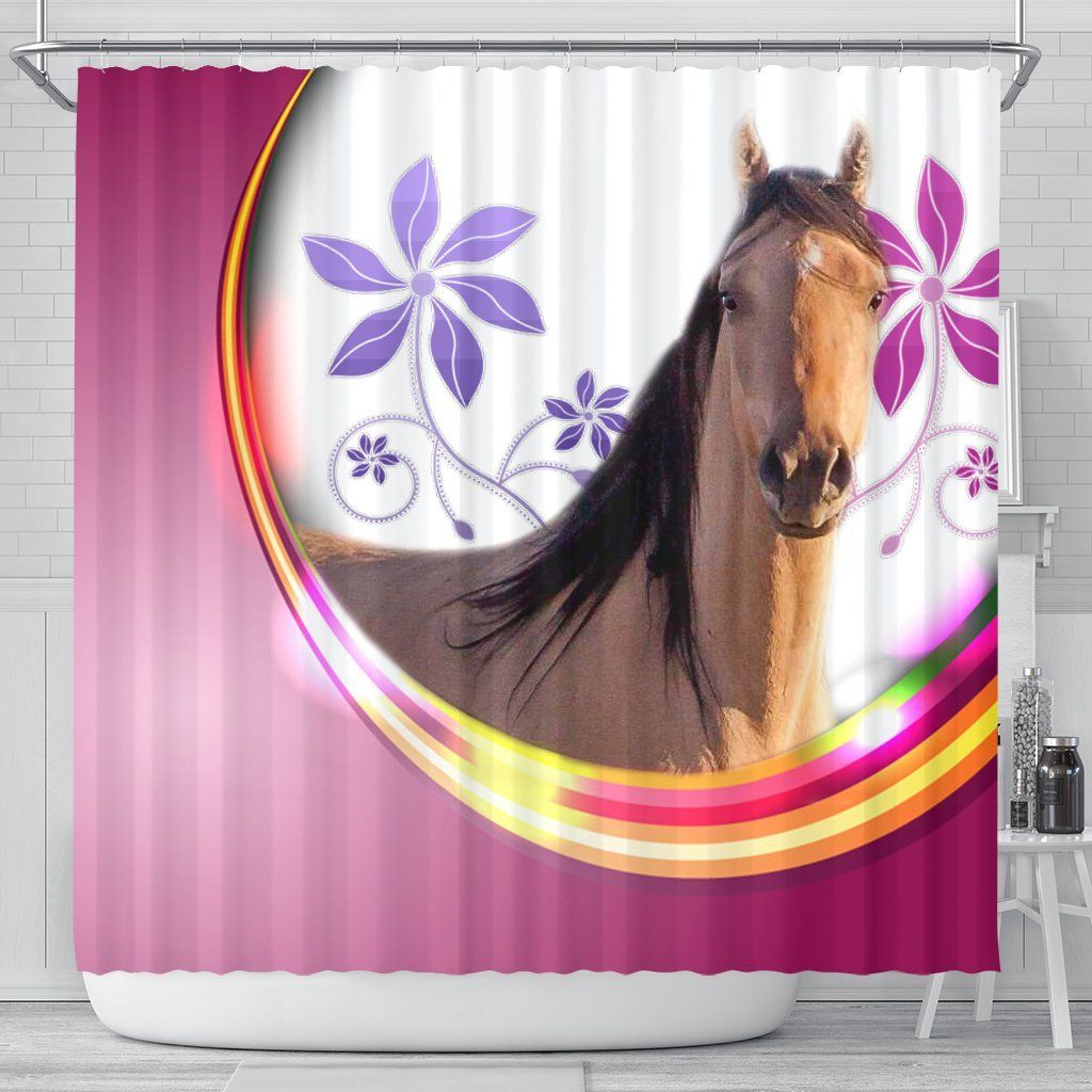 Kiger Mustang Horse Print Shower Curtain Free Shipping