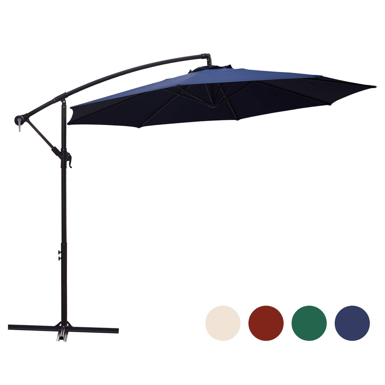 Kingyes Cantilever Umbrella Umbrellas Backyard In 2020 Outdoor Umbrella Decks Backyard Market Umbrella