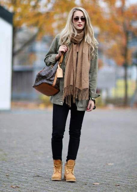 25 Ausgezeichnete Herbst Outfits Mit Timberland Stiefel Für
