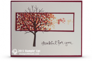 Video How To Make This Falling Leaves 2 Timing Spotlight Card Stamping Up Cards Sheltering Tree Stamp Set Leaf Cards