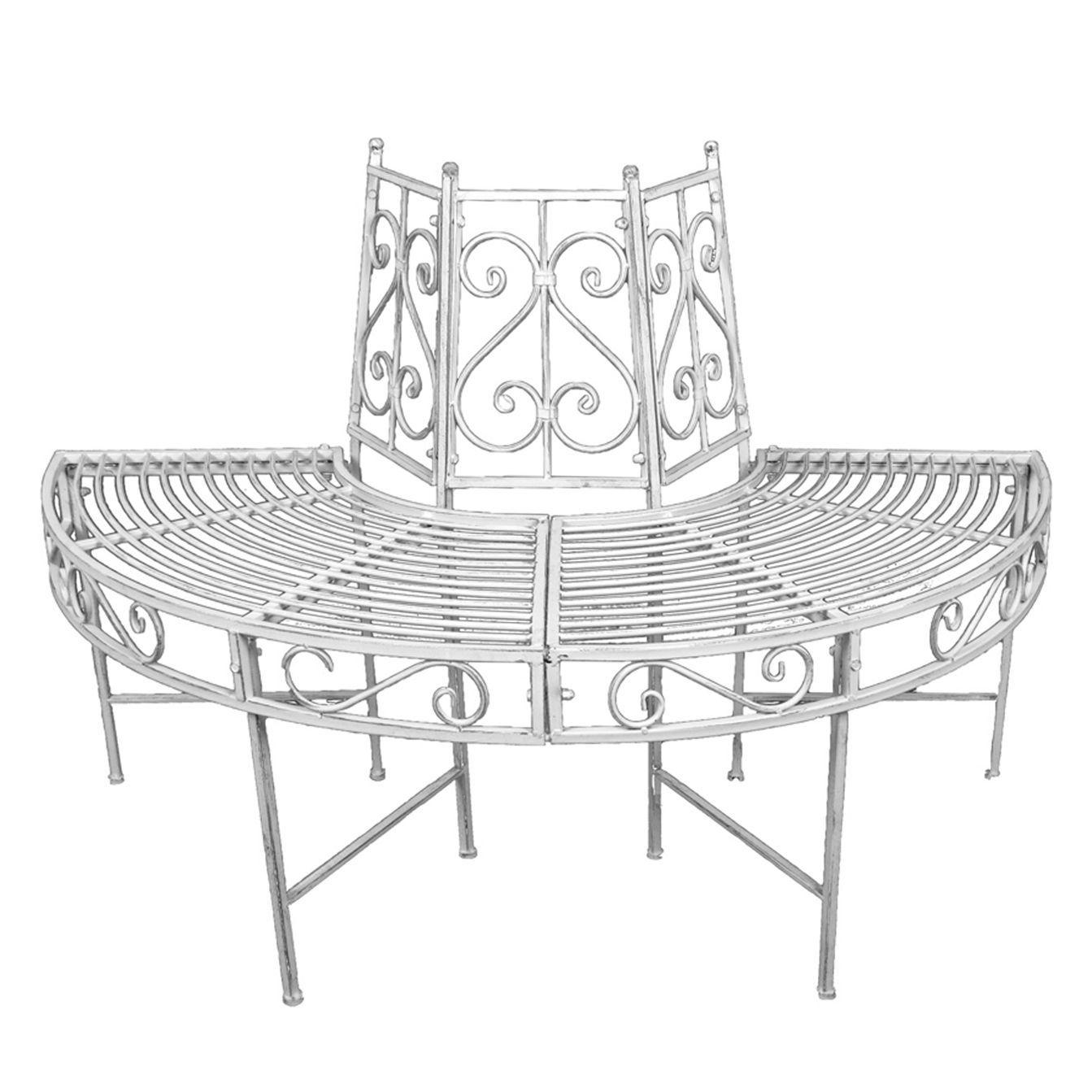 Baumbank Varda - Stahl - Weiß, Garden Pleasure Jetzt bestellen unter ...