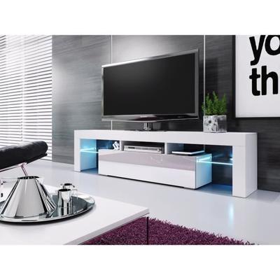 meuble banc tv blanc 1m90 achat vente meuble tv meuble banc tv blanc 1m90 cdiscount le salon de mes rves cdiscount pinterest tvs