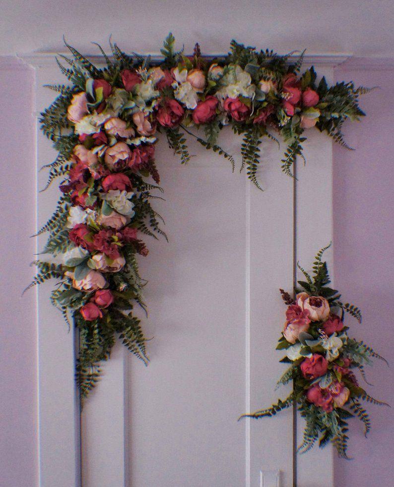 Wedding Arch Swag Wedding Backdrop Wedding Arch Flowers