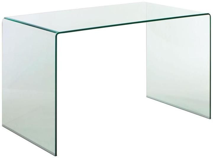 Zuo Caravan Clear Glass Desk With Images Glass Desk Glass