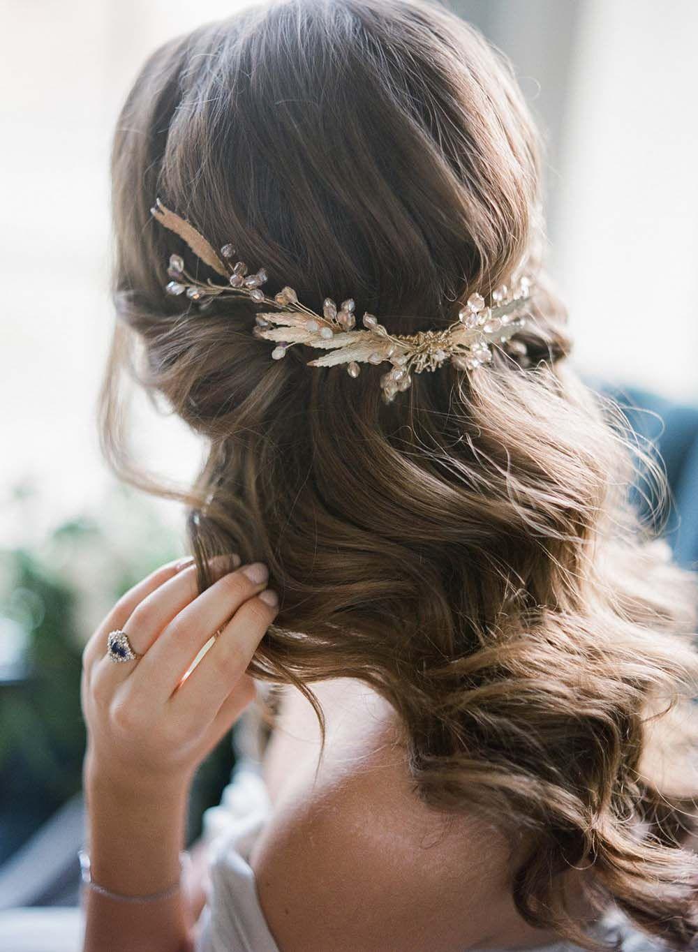 10 Romantic Bridal Hair Ideas We Found On Pinterest