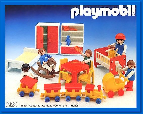 The first Playmobil set I ever had!  <3 Vintage Playmobil Children's Playroom Set 3290