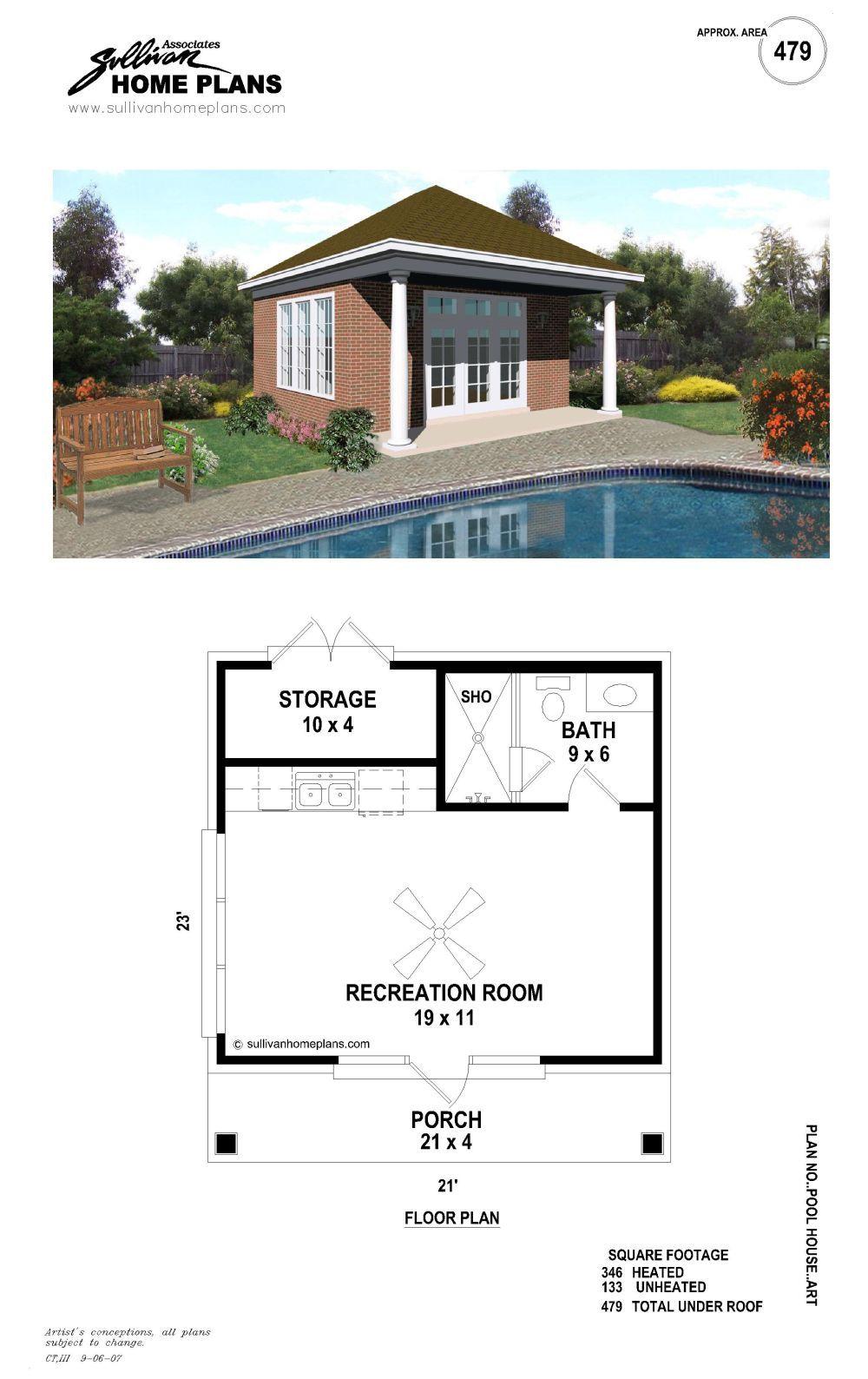 B1 0479 A P Pool House Plans Pool Houses Pool House Designs