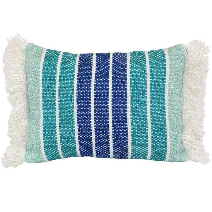 Baja Stripe Lumbar Pillow 20 Quot Aqua In 2020 Patio