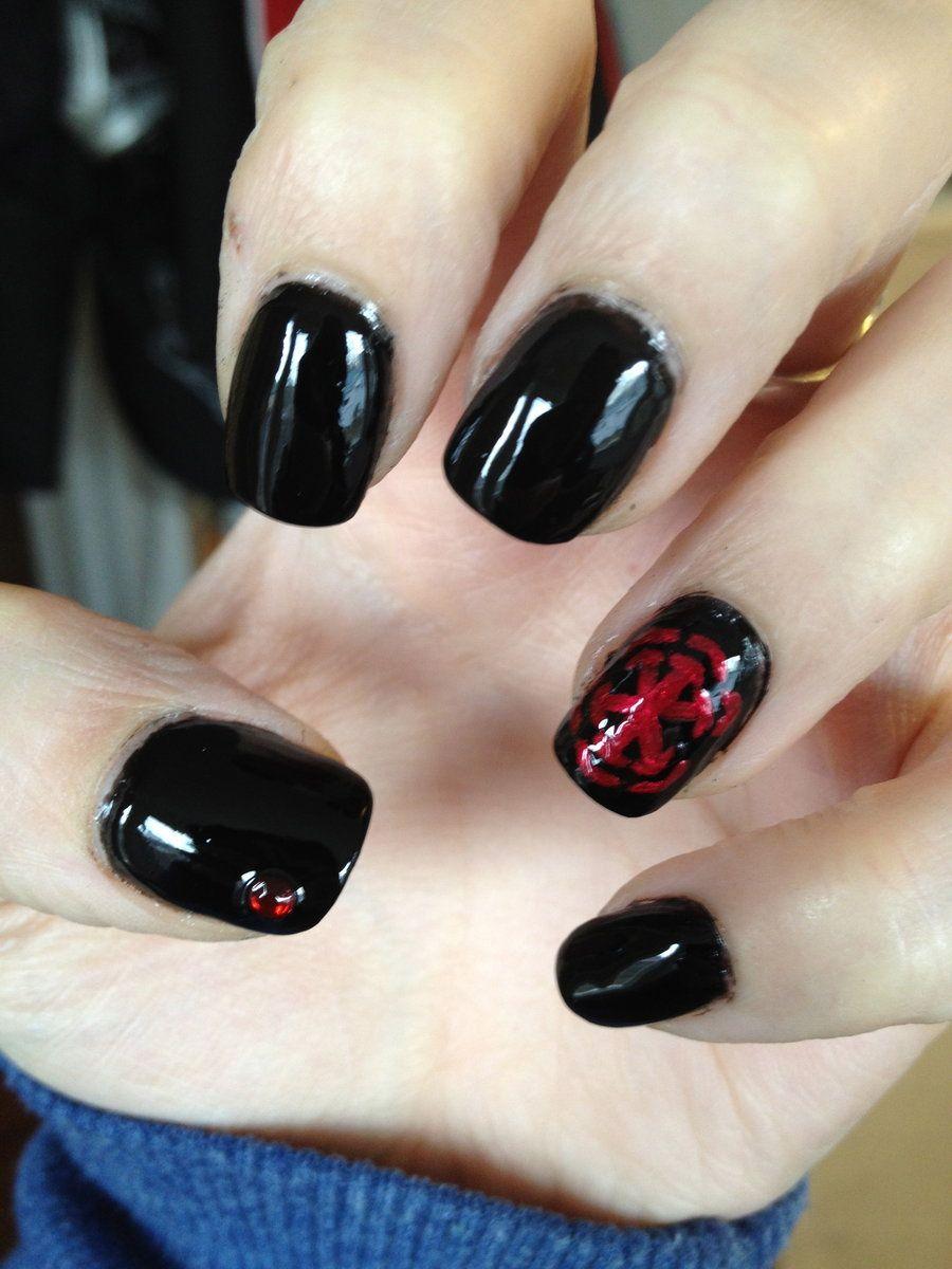 Star Wars Nail Art | star wars nail art the dark side by gwiibear  traditional art - Star Wars Nail Art Star Wars Nail Art The Dark Side By Gwiibear