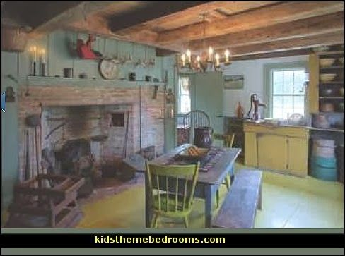 Early American Colonial Interiors early American country farmhouse