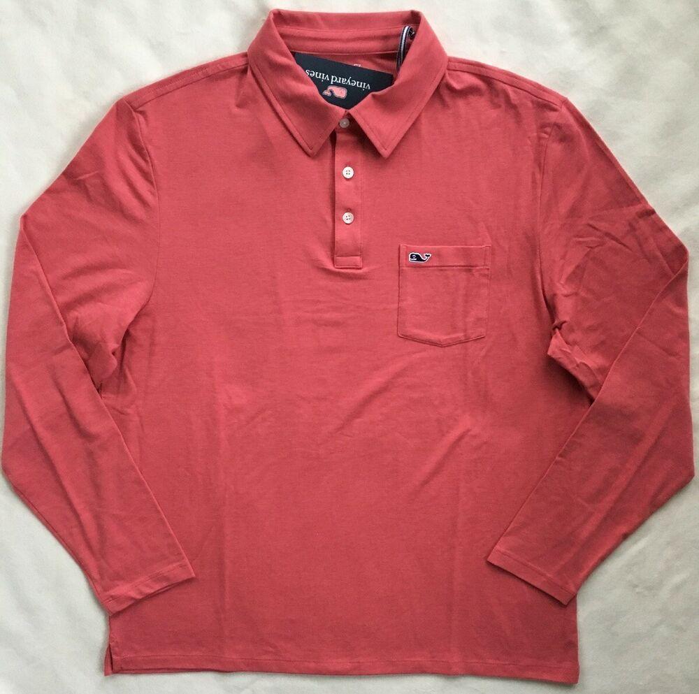 Vineyard Vines Striped Edgartown Jersey Polo Shirt Mens XL Red NWT Blue