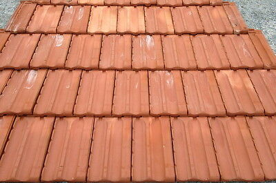 French Style Roof Tile Smooth Red 2sq 270pcs Roofing Flat Roof Tiles Roof Tiles