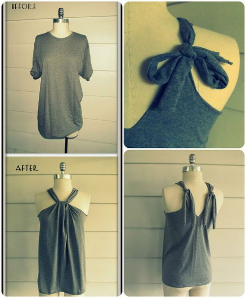 Diy projects no sew t shirt halter on imgfave i could make if i diy projects no sew t shirt halter on imgfave solutioingenieria Gallery