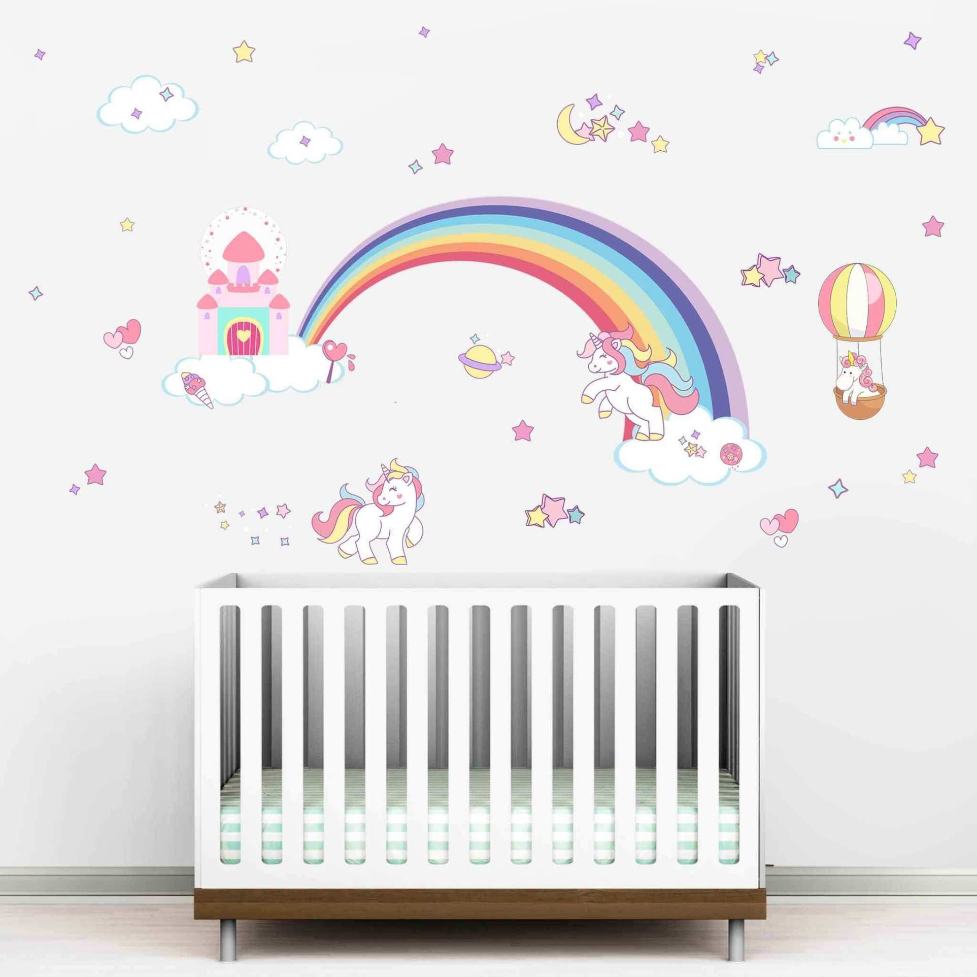 Get Unicorn Wall Stickers For Kids Room Browse Latest Decorative