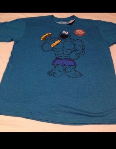 4126c15ef Sesame Street Cookie Monster Mens Large T-Shirt Workout Gym Fitness ...