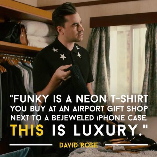 Aw, love David Rose!! Played by Daniel Levy, on CBC's Schitt's Creek.