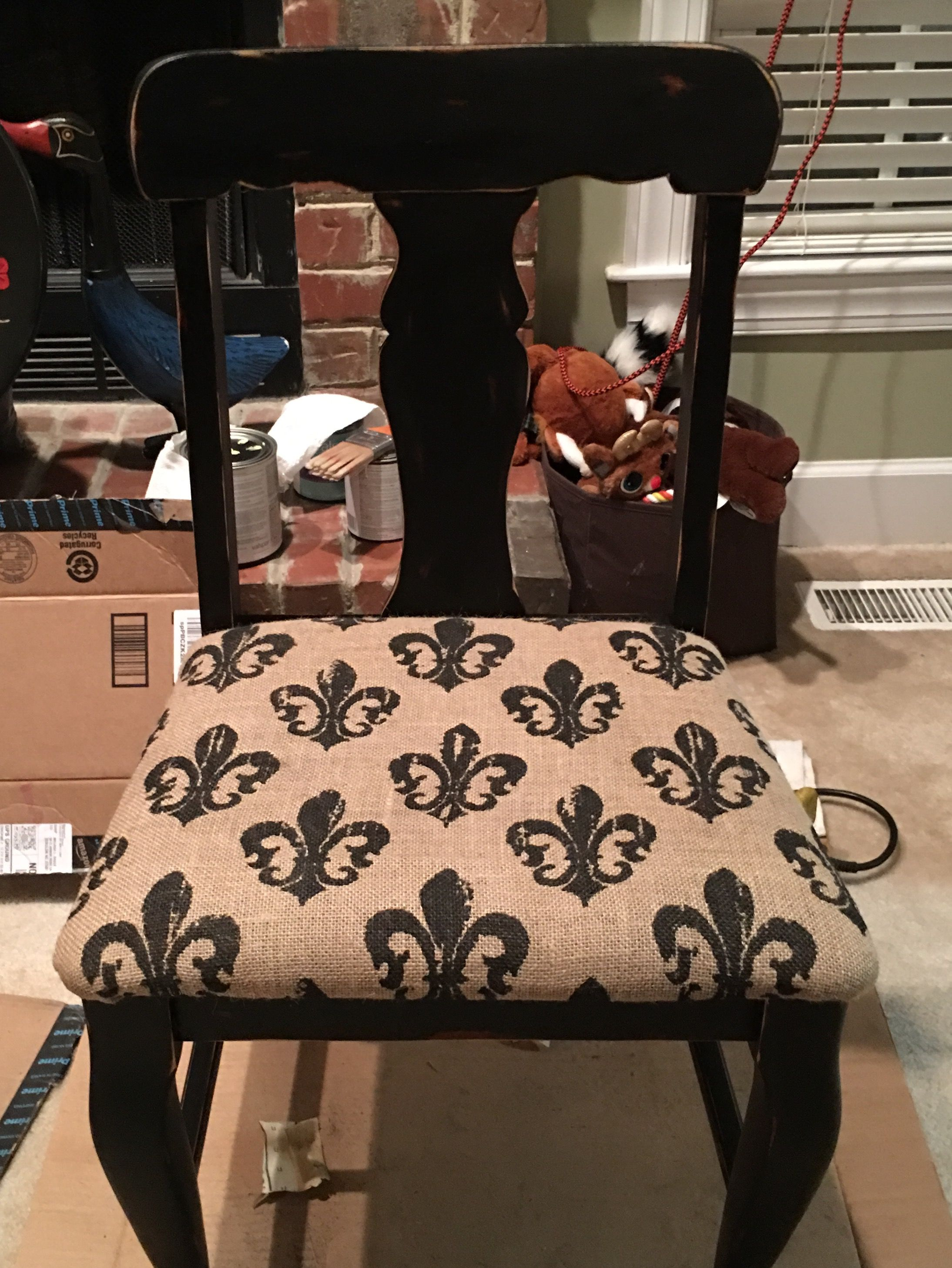 Old Dining Room Chair Makeover Chalk