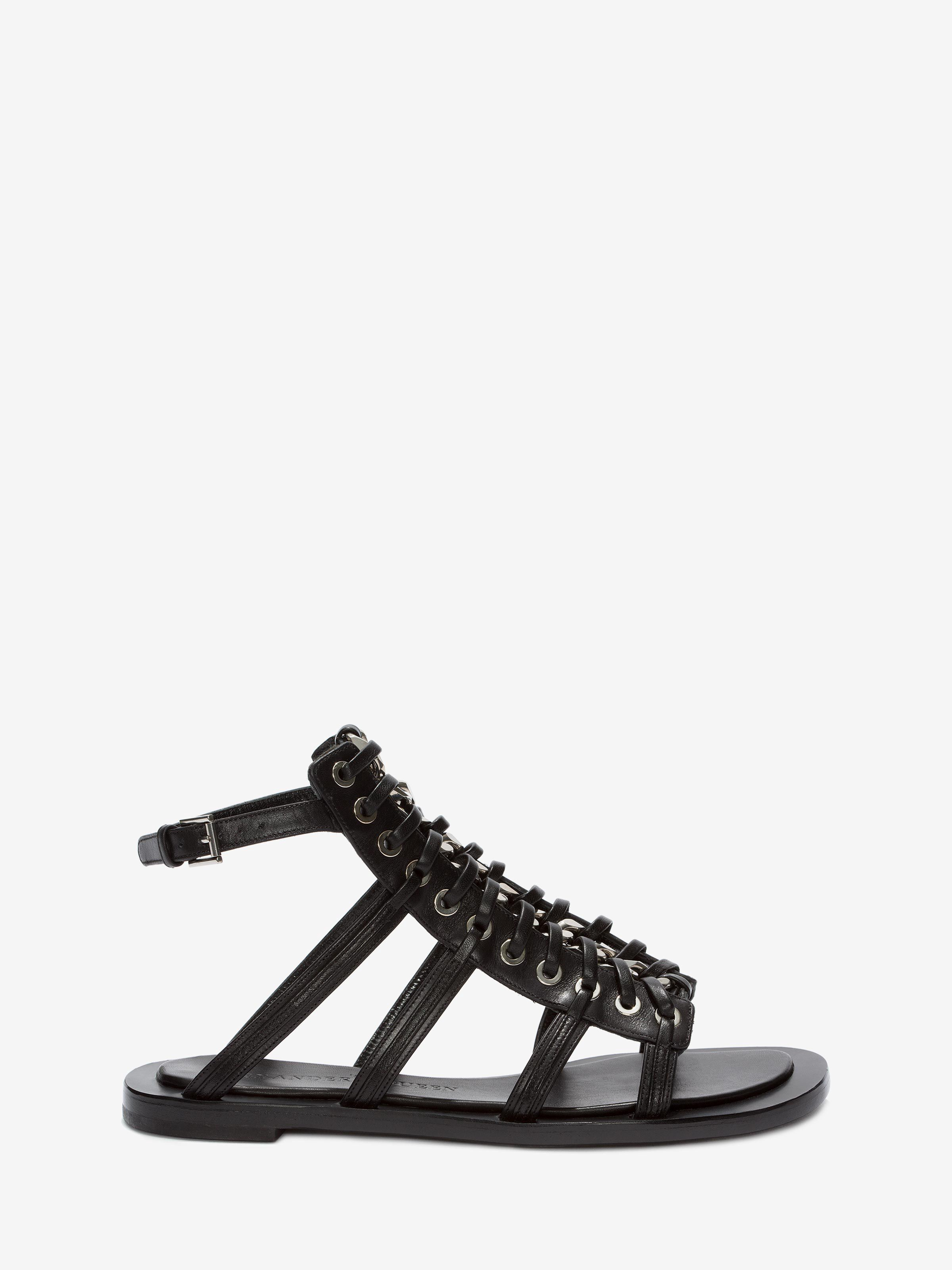 50f20480828c ALEXANDER MCQUEEN Braided Chain Sandal.  alexandermcqueen  shoes ...