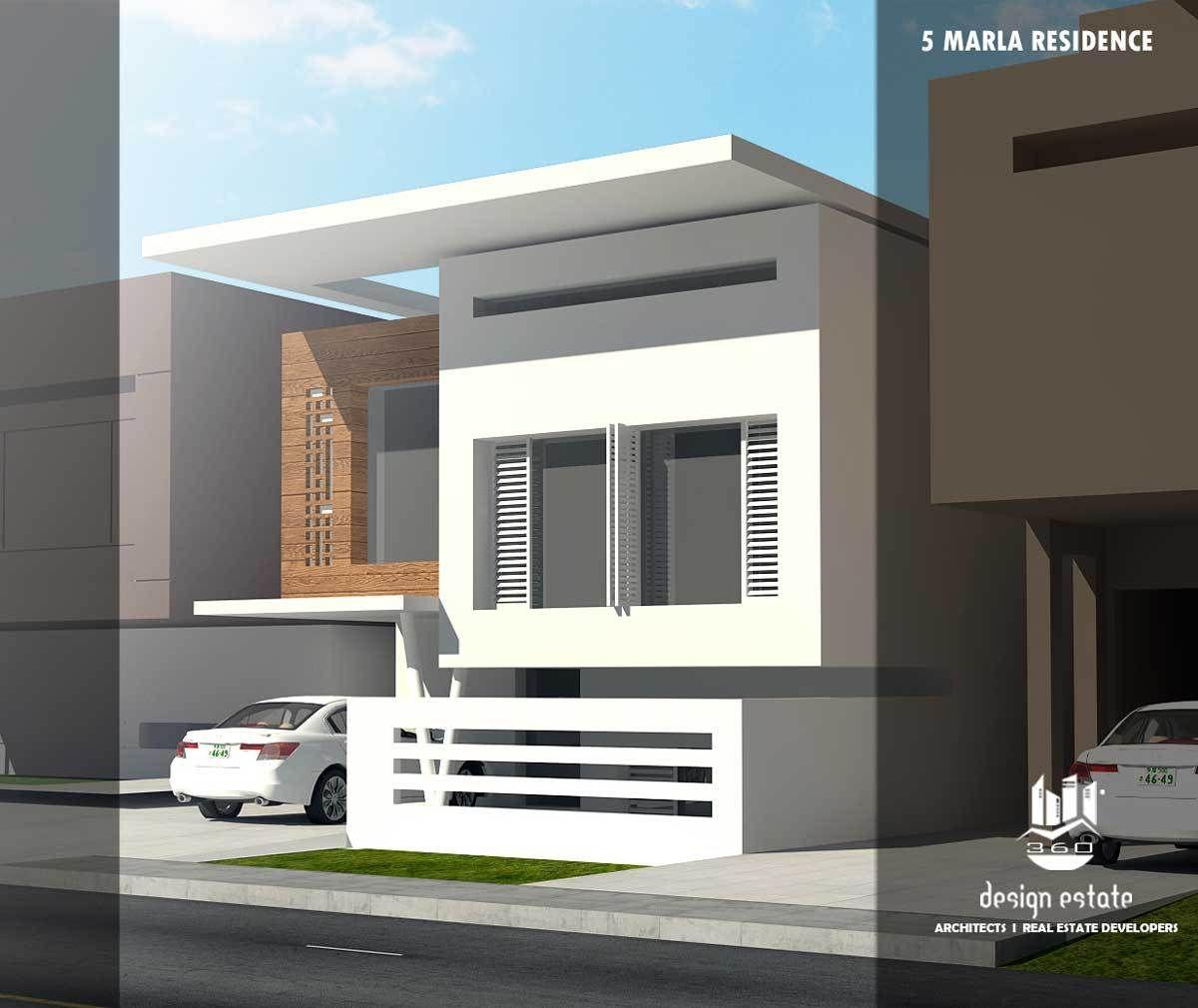 Modern house design by 360 design estate 5 marla house