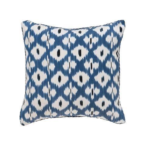 Blue Clair Merle Daphne Ikat Pillow Madeline Weinrib Ikat