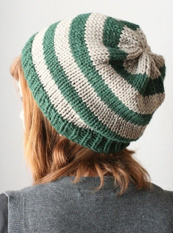 Must make for Casey in Crochet!\' Slytherin slouchy hat ...