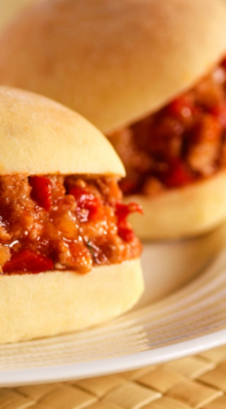 Try this Hawaiian Sloppy Joe Sandwich Recipe made with Sister Schubert's Sweet Hawaiian Dinner Rolls at your next BBQ meal.