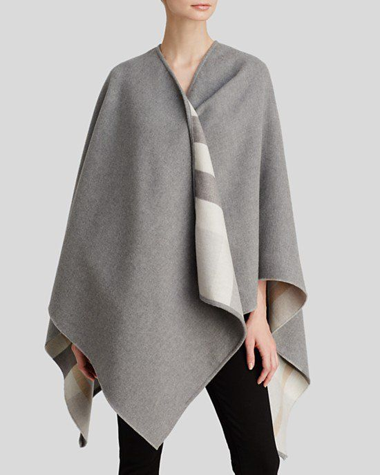 09c3073a672 Pin for Later  150+ Fashion Gifts to Add to Your Holiday Wish List Now  Burberry London checked merino wool cape ( 895)