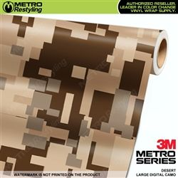 Large Digital Desert Camouflage Vinyl Wrap Metro Restyling Camo Car Vinyl Wrap Camouflage