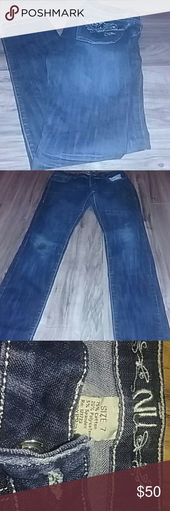 NU Jeans Worn Once I take offers and trades!  Size 7 NU Jeans Skinny