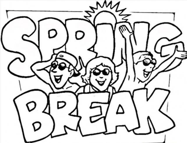 Spring Break Coloring Pages Spring Coloring Pages Coloring Pages Free Coloring Pages