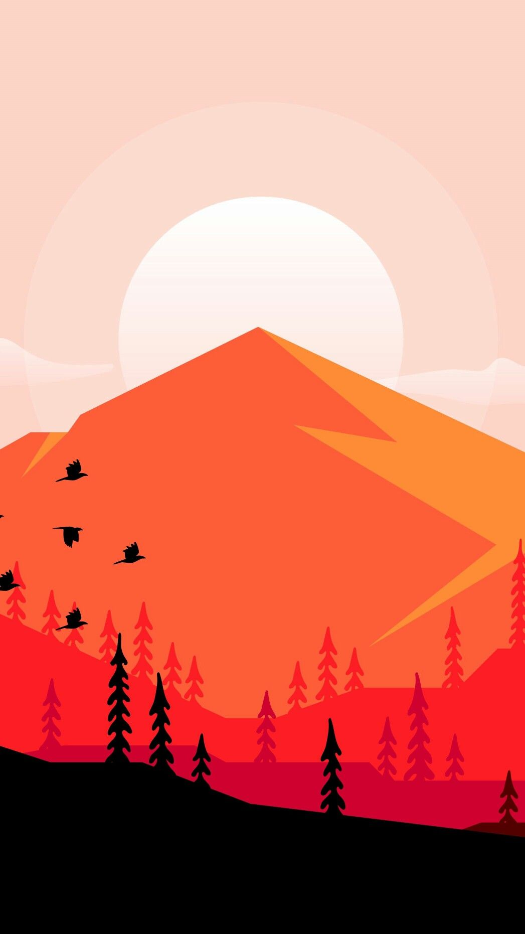 Mountain Minimal Wallpaper Minimalist Wallpaper Art Wallpaper