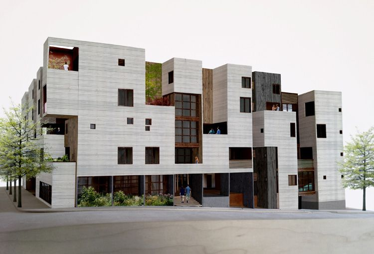 this new apartment building trades its parking spaces for