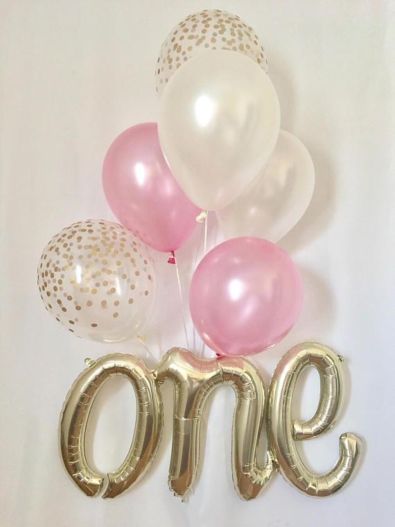 One Script Balloon~One Balloon~Pink & Gold First Birthday Balloon Prop~First Birthday Party~First Birthday Party Decor~Cake Smash Prop