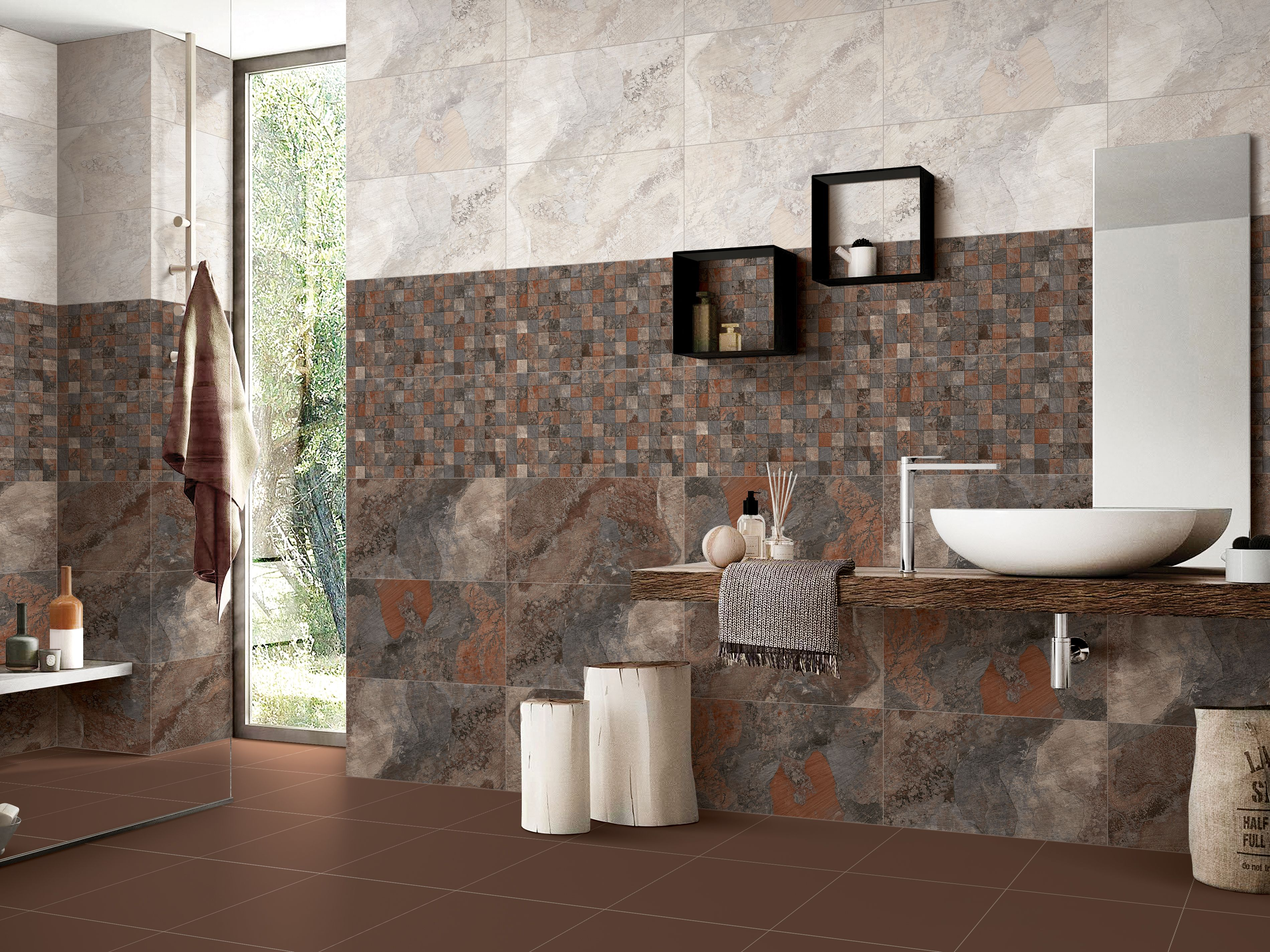Boonthavorn Look Both Classic And Contemporary At The Same Time With Rustic Floor Wall Tiles Rustic Flooring Tile Bathroom Wall Tiles
