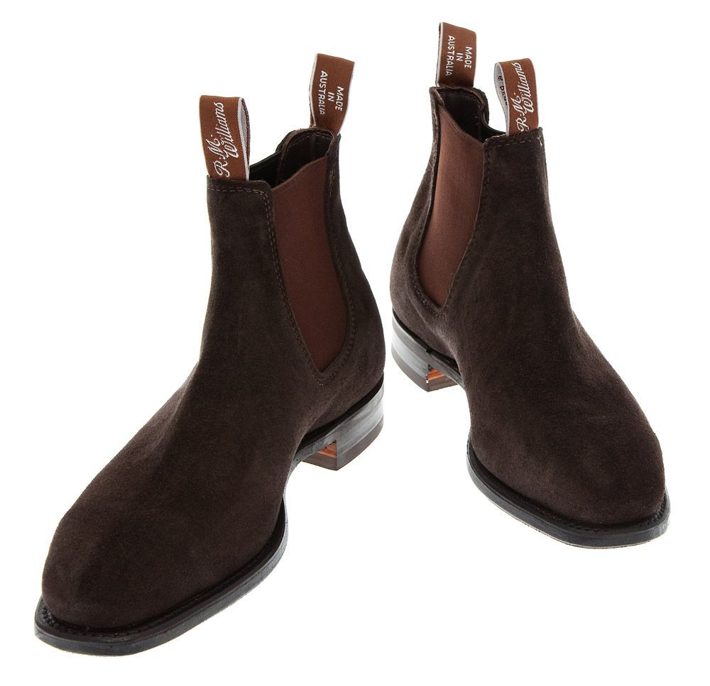 RM Williams Suede Comfort Craftsman Boots Brown | Boots