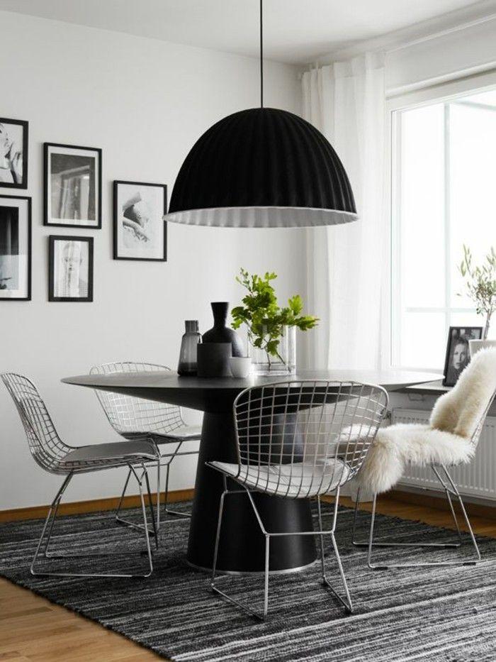 esstischlampe im skandinavischen stil in schwarz Esszimmer