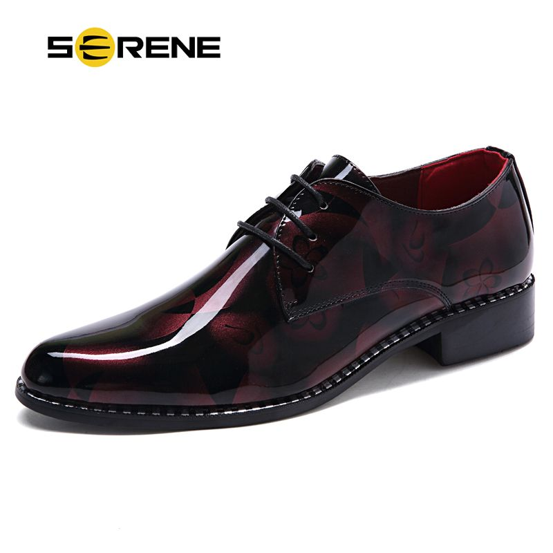 SERENE Brand 2017 New Fashion Leather Men Party Shoes Soft Wear Men  Business Wedding Dress Shoes Lace-up Moccasins size38-43 558  Affiliate a49a3f5802eb
