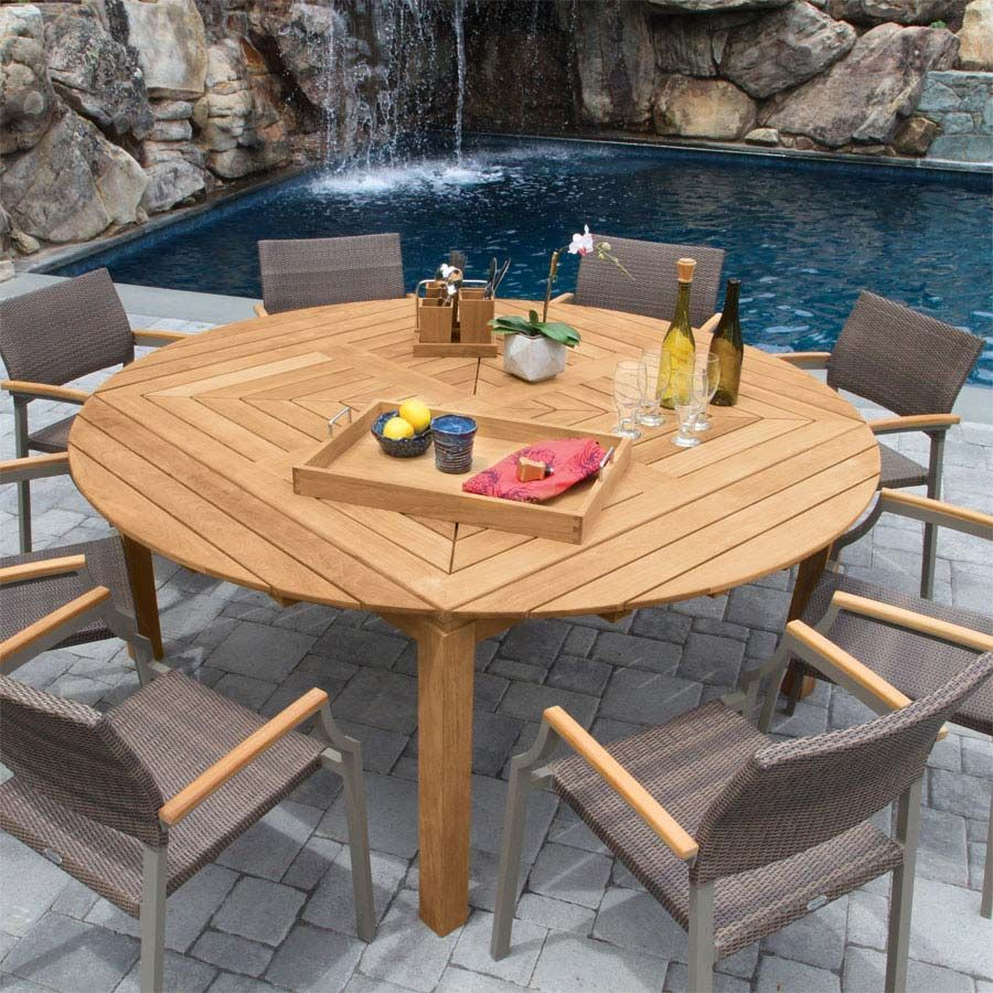 Snowdon Table With Valencia Chairs In Mocha Large Round Dining Table Round Outdoor Table Extension Dining Table