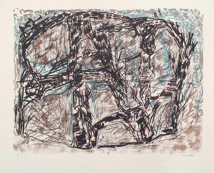 """Jean Paul Riopelle, Feutré, 1976, Lithographie, 23"""" x 29"""""""