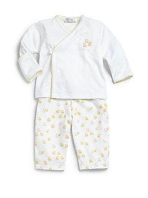 Kissy Kissy Infant's Two-Piece Rubber Ducky Kimono Top & Pants Set