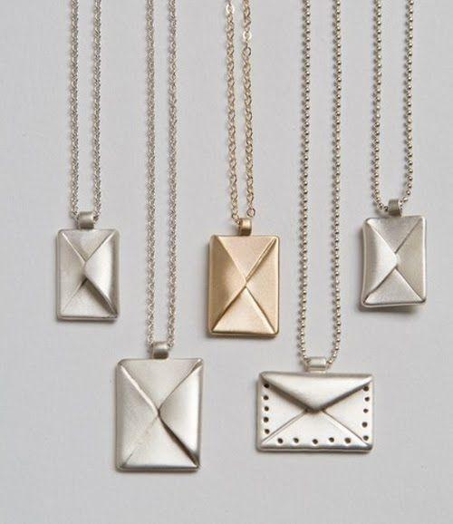 envelope necklaces