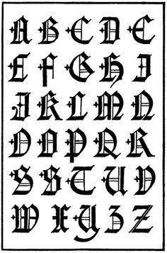 20 Tipos De Letras Para Dibujar Graffitis Y Goticas Abecedario Gotico Tipos De Letras Abecedario Tipos De Letras