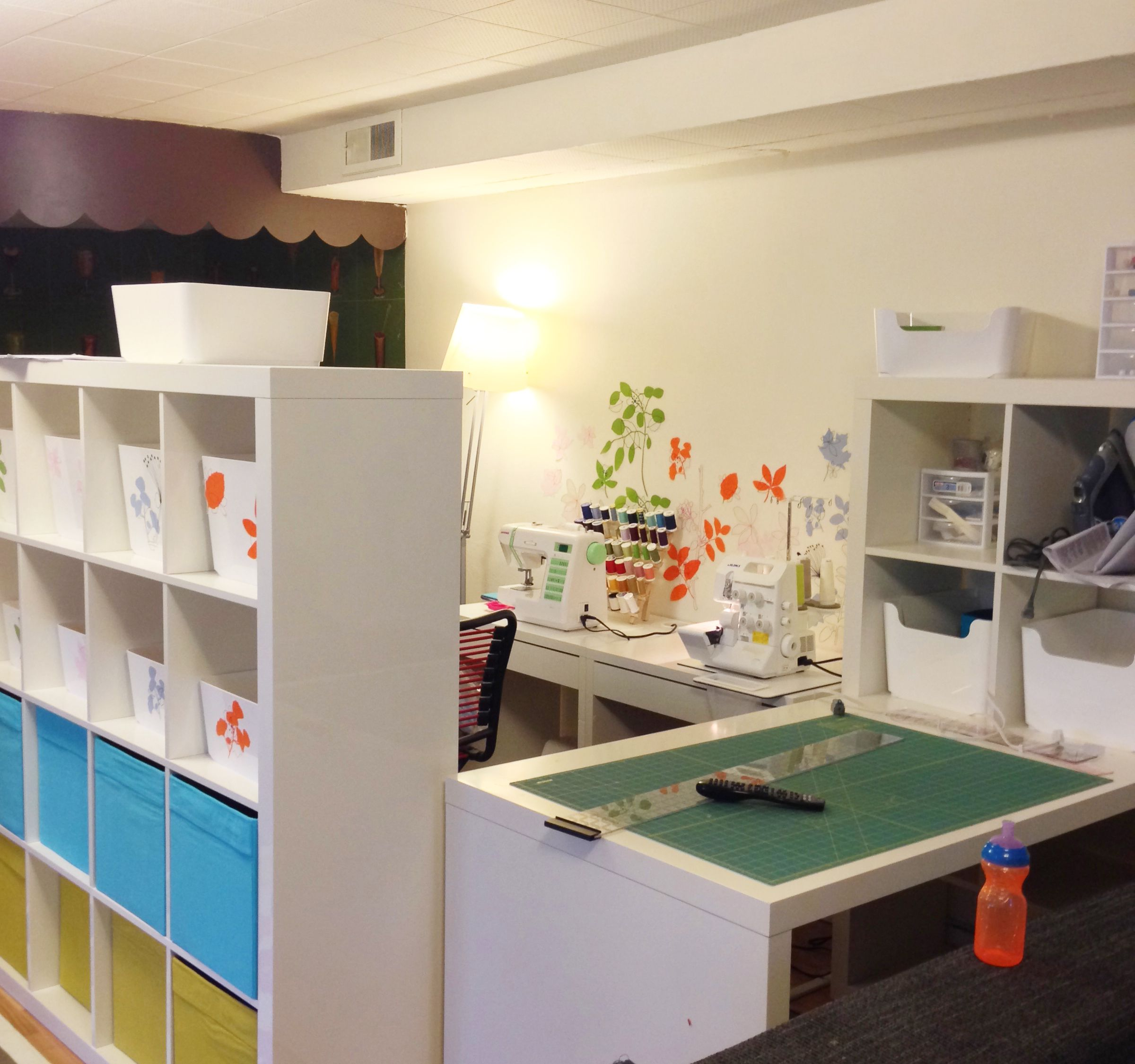 Basement Sewing Room Ideas Sewing Room Ikea Expedit