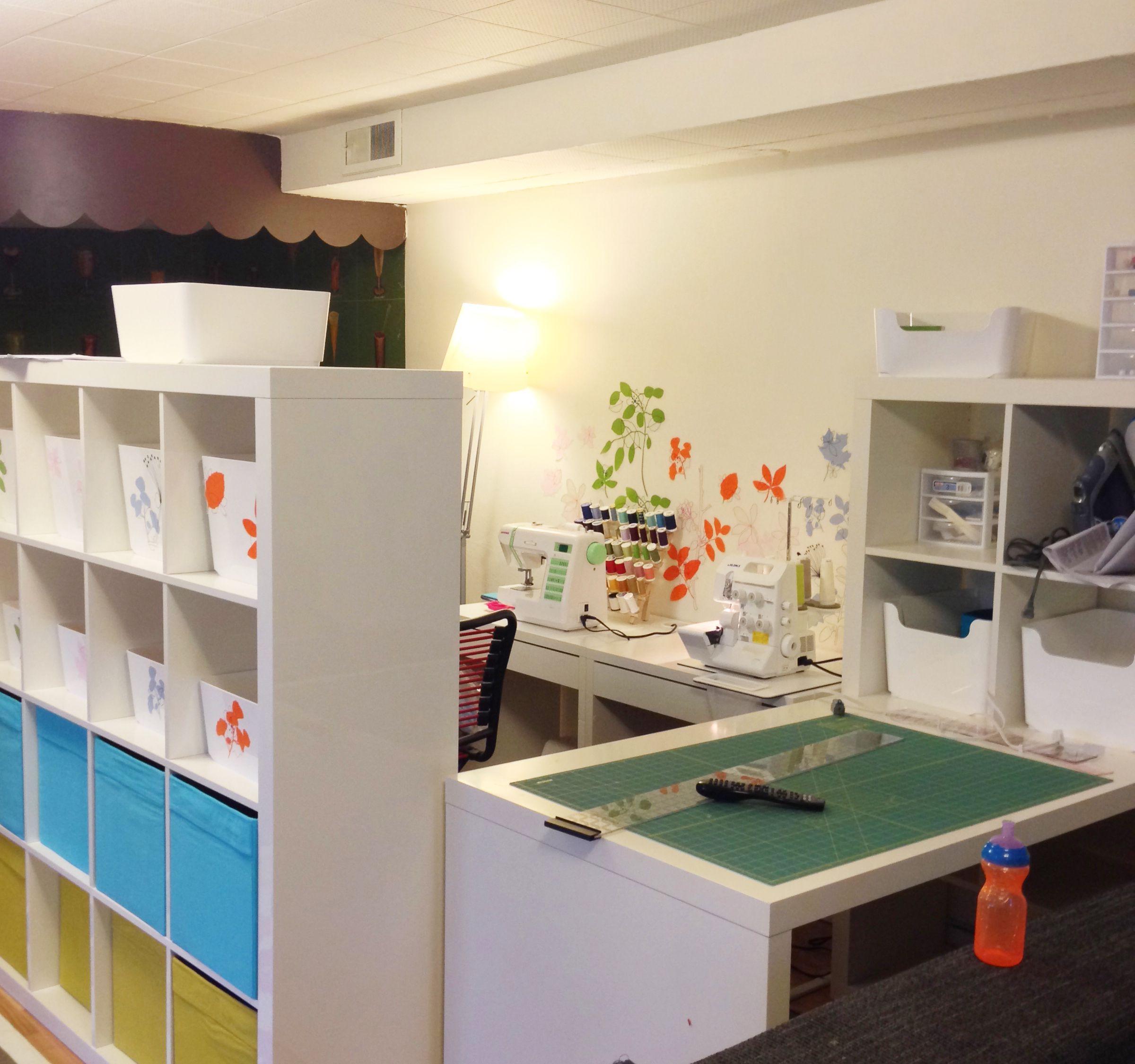 basement sewing room ideas sewing room ikea expedit diy